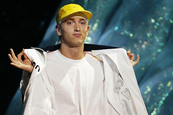 Le rappeur américain Eminem, en 2002.