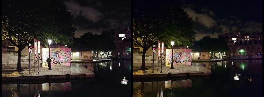 LG à gauche, Samsung à droite.