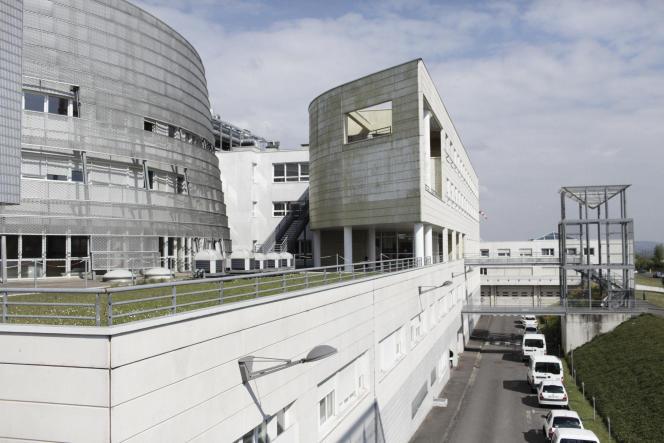 Hôpital Pierre-Bérégovoy, à Nevers, en avril.