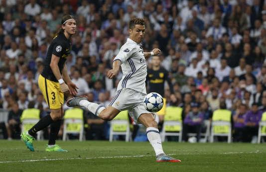 Cristiano Ronaldo, mardi 2 mai, lors de Real Madrid-Atlético Madrid, en demi-finales aller de la Ligue des champions.