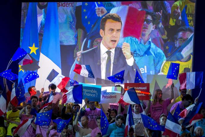 Meeting d'Emmanuel Macron, à La Villette à Paris, le 1er mai.