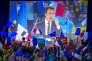 Meeting d'Emmanuel Macron au Paris Event Center à La Villette à Paris, le 1er mai.