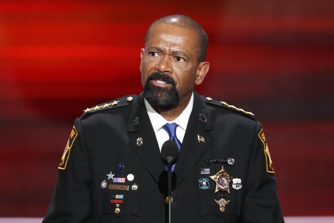 Le shérif de Milwaukee, David Clarke à la convention d'investiture de Donald Trump, le 18 juillet 2016.