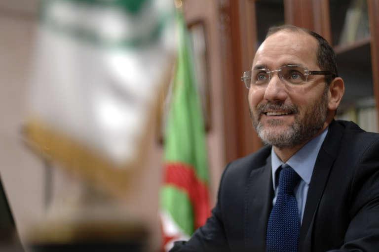 L'Algérien Abderrazak Makri, le leader du parti islamiste Mouvement pour la société et la paix, en janvier 2017.