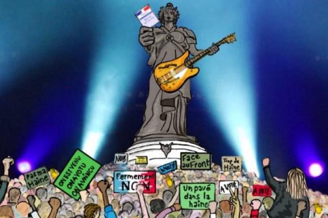Affiche du spectacle organisé jeudi 4 mai place de la République à Paris.