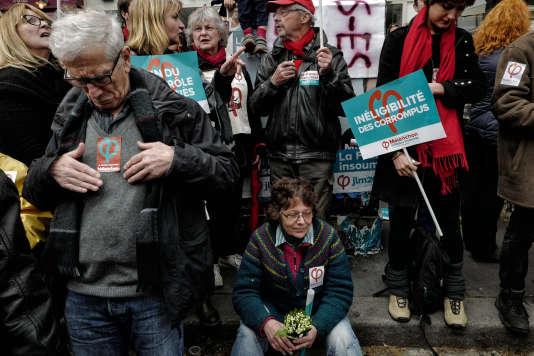 Rassemblement du mouvement «La France Insoumise»en marge du défilé du 1er-Mai à Paris.