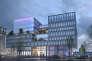 L'immeuble « Austerlitz », construit par Altarea-Cogedim, fera face au futur pont qui enjambera les voies ferrées et donnera accès à la Salpêtrière, dans le 13e arrondissement de Paris.