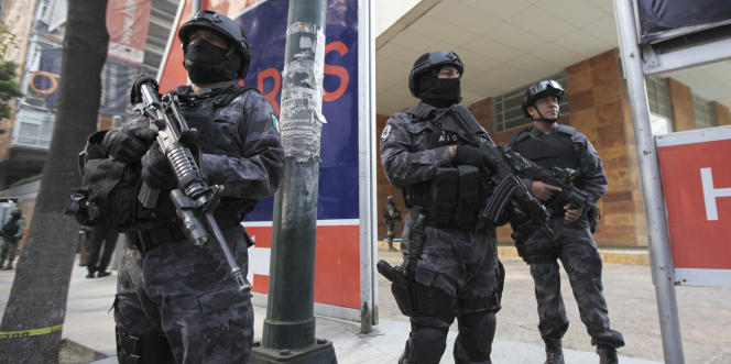 A Mexico, le 2 mai, lors de l'arrestation de l'un des chefs du cartel de Sinaloa.