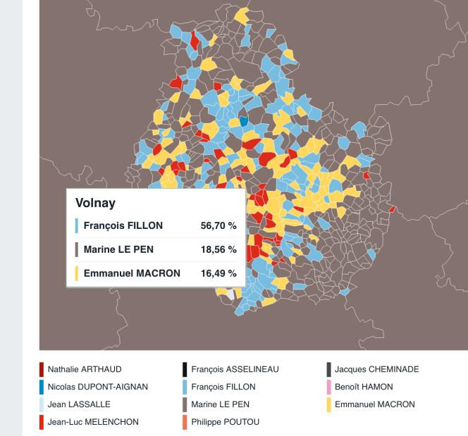 En Bourgogne, François Fillon est arrivé en tête dans la quasi-totalité des grands domaines.