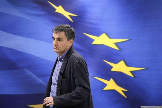 Le ministre des finances grec, Euclide Tsakalotos, le 30mars, à Athènes.