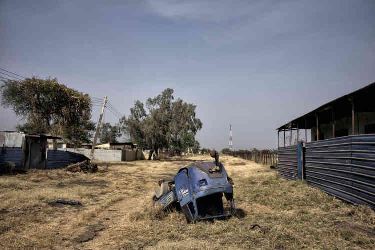 Restes des combats entre les rebelles et l'Armée populaire de libération du Soudan à Malakal.