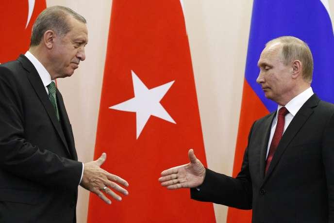Recep Tayyip Erdogan et Vladimir Poutine, le 3 mai à Sotchi.
