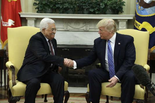Donald Trump et Mahmoud Abbas, le 3 may 2017 à Washington.