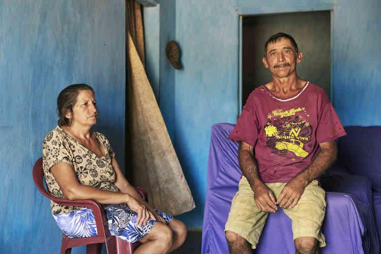 Dionisia Sales Barbosa et son mari Joao Nunes Barbosa. Ce couple d'éleveurs de chèvres habite dans une petite exploitation de la municipalité.
