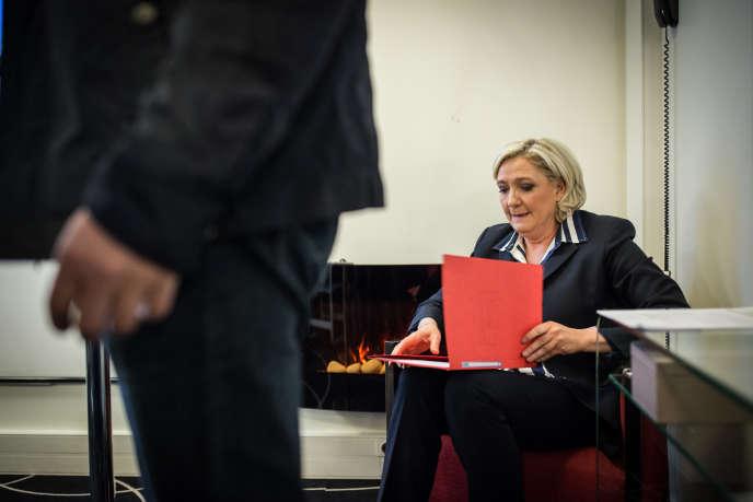 Marine Le Pen, à Paris, le 2 mai.