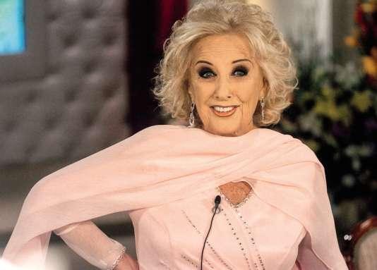Mirtha Legrand, 90 ans, dont quarante-huit de télévision.