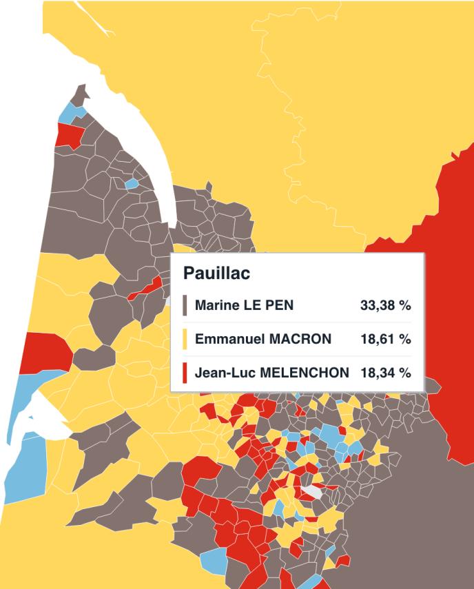 Les grands crus du Médoc ont choisi pour Marine Le Pen le 23 avril, mais François Fillon est en tête à Saint-Emilion.