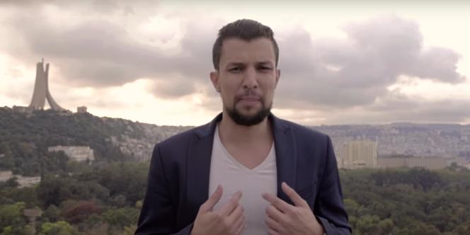 Capture d'écran de la vidéo deDZ Joker dans laquelle il appelle au boycottage des législatives algérienne du 4 mai 2017.