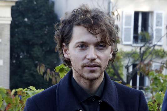 Le chanteur Raphaël à Paris, en octobre 2015.