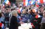 Marine Le Pen, la candidate du Front national pour l'élection présidentielle, à Ennemain (Somme), le 4 mai.