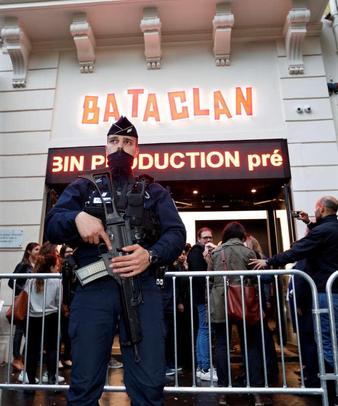 Le Bataclan, sous surveillance depuis l'attentat du 13 novembre 2015. A Paris, le 4 mai 2017.