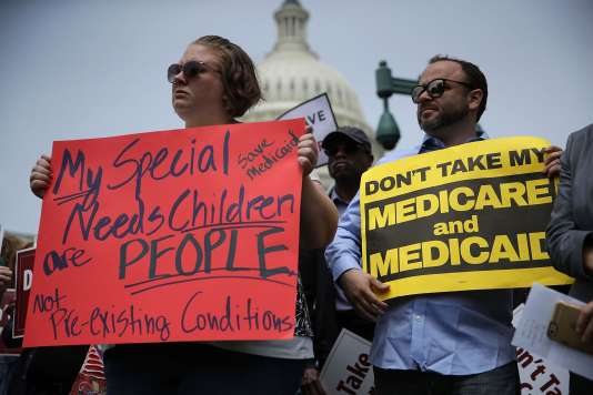 Manifestation contre la réforme du système de santé, à Washington, le 4mai 2017.