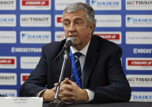 Le président de la fédération française de hockey Luc Tardif, en 2014.