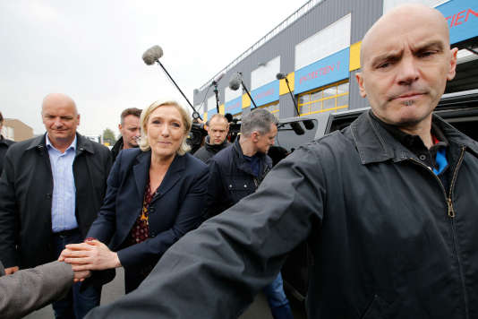 Marine Le Pen, le 4 mai, à Dol-de-Bretagne.