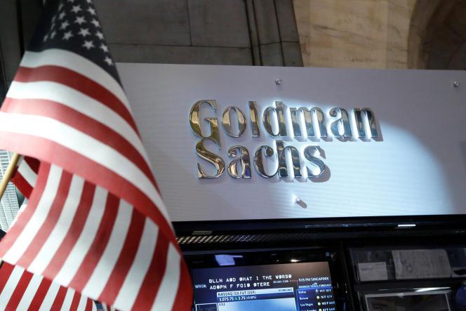 Le comptoir de Goldman Sachs au New York Stock Exchange, à New York.