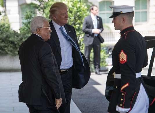 Mahmoud Abbas et Donald Trump, à la Maison Blanche, le 3 mai.