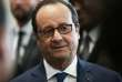 French President Francois Hollande looks on during a visit in Alencon, northwestern France, on May 4, 2017. / AFP / CHARLY TRIBALLEAU