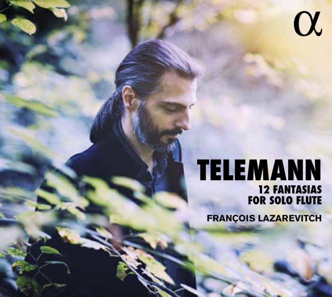 Pochette de l'album« 12 Fantasias For Solo Flute», par François Lazarevitch.