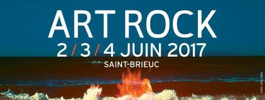 Visuel du festival Art Rock, du 2 au 4 juin, à Saint-Brieuc.