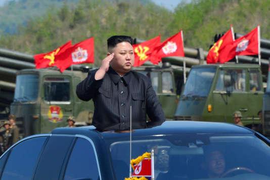 Kim Jong-un, le dirigeantde la Corée du Nord, le 26 avril.