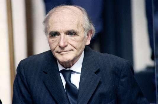 Klaus Barbie, lors de son procès à Lyon, le 11 mai 1987.
