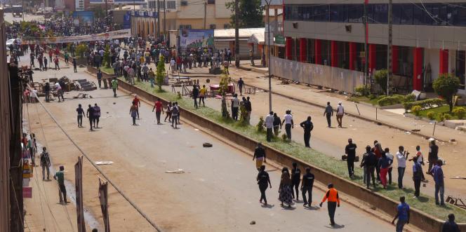 Lors d'une manifestation anti-gouvernement à Bamenda, au Cameroun, le 8décembre 2016.