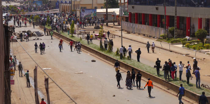 Manifestation antigouvernementale à Bamenda, au Cameroun, le 8 décembre 2016.