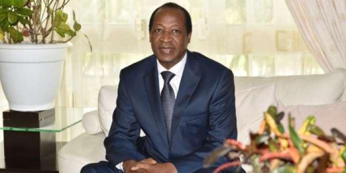 L'ancien président du Burkina Faso, Blaise Compaoré, en exil en Côte d'Ivoire, le 10 octobre 2016.