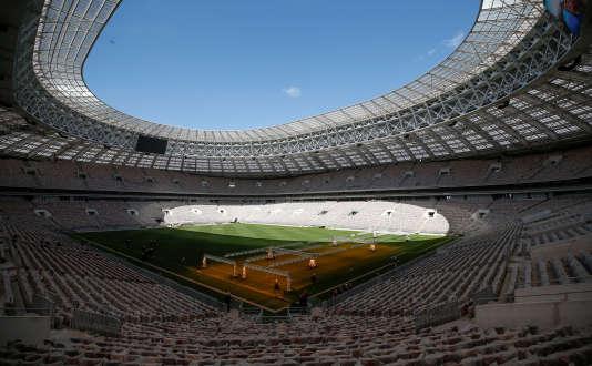Vue du stade Loujniki, qui accueillera des matches de la Coupe du Monde 2018, à Moscou, en Russie, le 6 mai 2017.