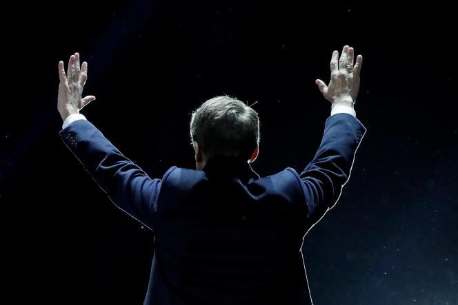 Emmanuel Macron le 7 mai 2017 juste après son élection.«La France n'est un modèle pour le monde que si elle est exemplaire», dira-t-il une semaine plus tard lors de son discours d'investiture.