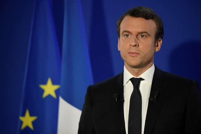 Emmanuel Macron, vainqueur de l'élection présidentielle, lors de son discours de victoire, dimanche 7 mai à Paris.
