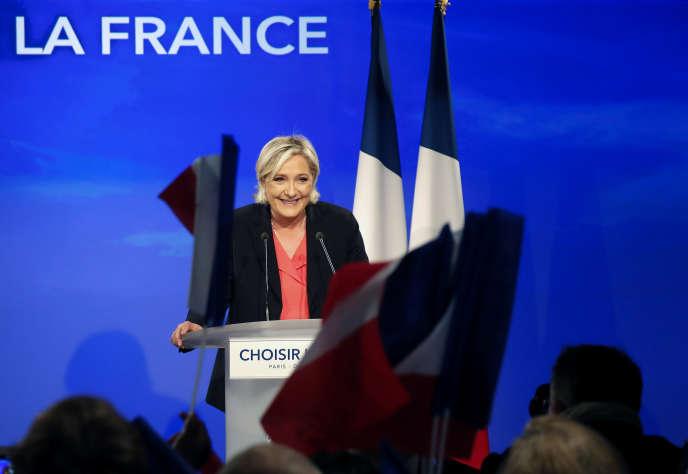 Marine Le Pen, le 7 mai 2017, au bois de Vincennes.
