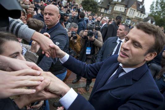 Emmanuel Macron au Touquet, dimanche 7 mai 2017.