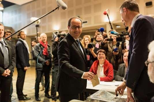 François Hollande, à Tulle, le 7 mai.