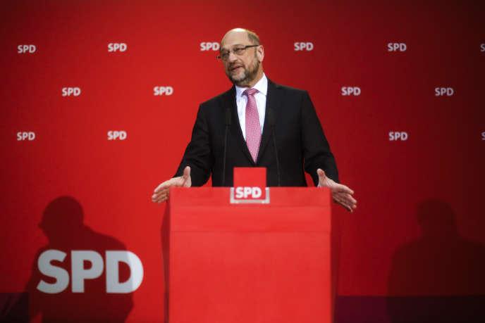 Martin Schulz, le président du Parti social-démocrate allemand, le 7 mai 2017.