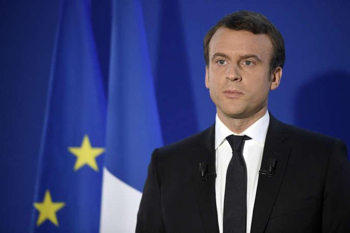 Emmanuel Macron, lors de son allocution le soir de son élection, le 7 mai.