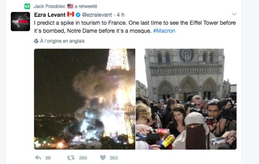 Alarmisme, agitation de la menace terroriste et islamophobie : les réactions les plus récurrentes à l'élection d'Emmanuel Macron dans la sphère alt-right.
