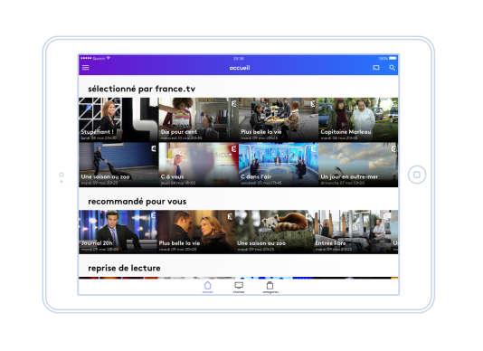 Capture d'écran de la plate-forme numérique France.tv.