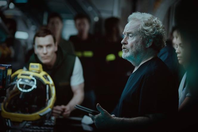 Le réalisateur britannique Ridley Scott sur le tournage du nouveau volet de la saga«Alien».