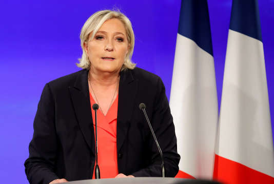Marine Le Pen le 7 mai, au soir du second tour de l'élection présidentielle.